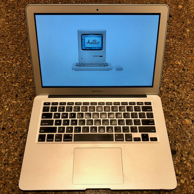 """The 13"""" MacBook Air I use for work."""