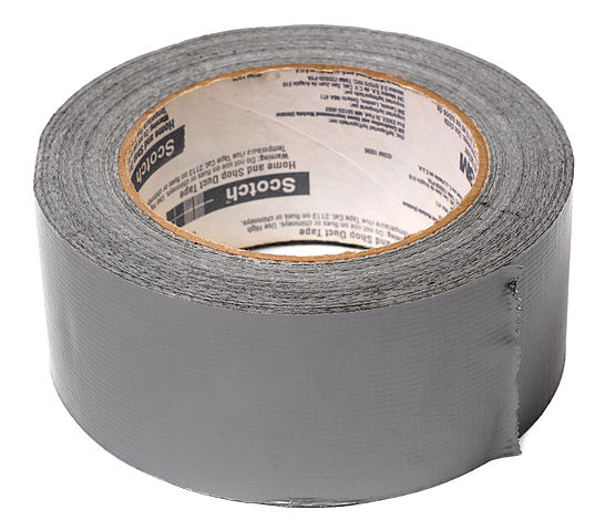 Image of Duct Tape By Evan-Amos - Own work, Public Domain, https://commons.wikimedia.org/w/index.php?curid=11293743